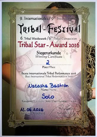 Natasha Bastrón - Natascha Bastron - Vize Tribal Star Gewinnerin 2016