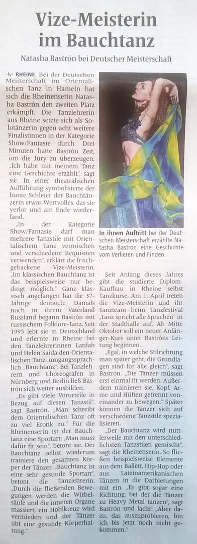 Natascha Bastron, Tanzschule Rheiner Tanz
